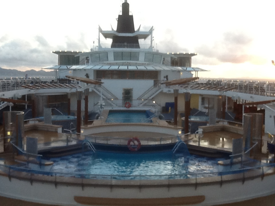 Pool Area on Ship