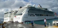 Norwegian and Princess docked side by side at Cozumel
