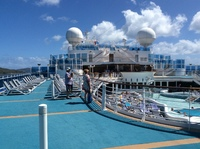 Diamond Princess enjoying the sun on deck