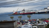 The Fram parked at the port of Ushuaia
