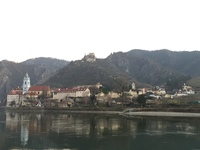 Durnstein - view from underway on the Danube