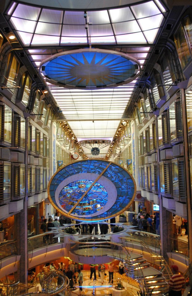 The promenade on board is impressive and shows how large the ship with shop