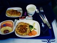 Breakfast on the plane