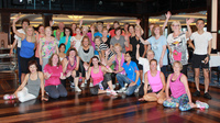 Zumba dancing group