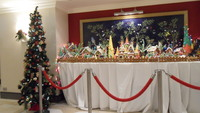 Christmas decorations outside buffet area