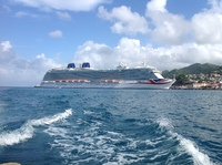 View from water taxi to grand anse beach, grenada