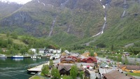 Town view from the ship. This is Flam.