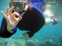 Good water clarity for snorkelling