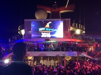 New Years party on the Lido Deck