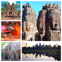 Cambodia Temples, Banteay Srei, Bayon, Angkor Wat and Ta Prohm