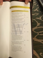 White wine page from restaurant list