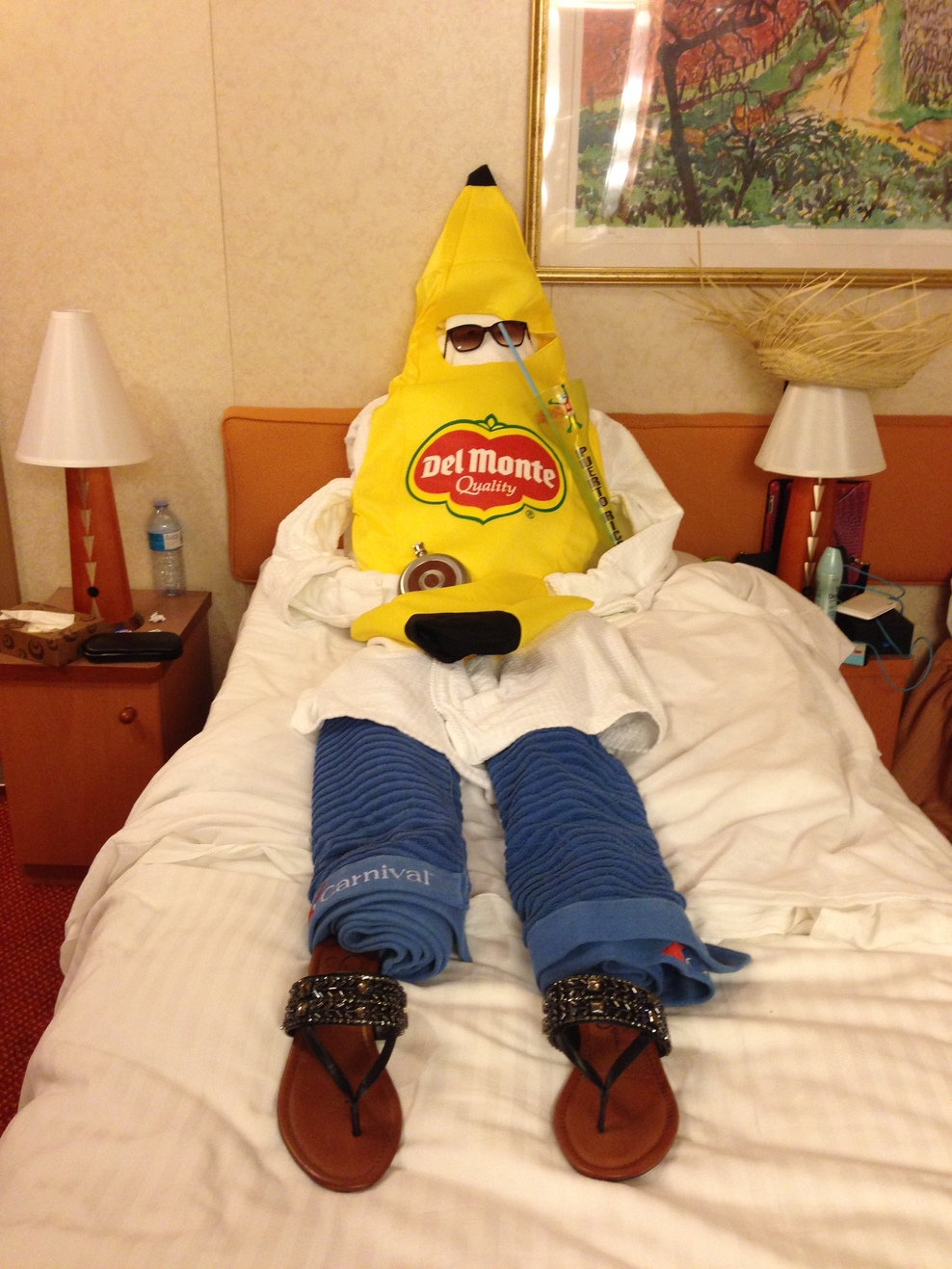 Towel human banana