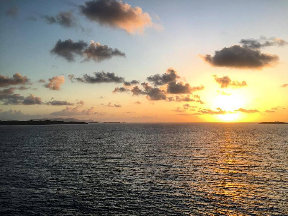 Sunrise over St. Thomas