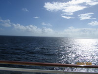On the sea, from the balcony