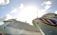 Azura and Royal Princess in Antigua