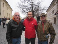 Ron & Jim with our Viking Program DIrector Mathias (in red)