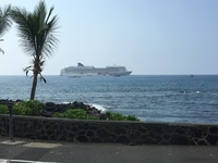 Ship tendered, taken from island of Kona