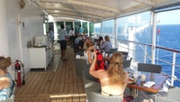 Top deck breakfast at the Veranda.