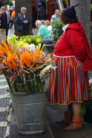 flower seller in Funchal, Madeira