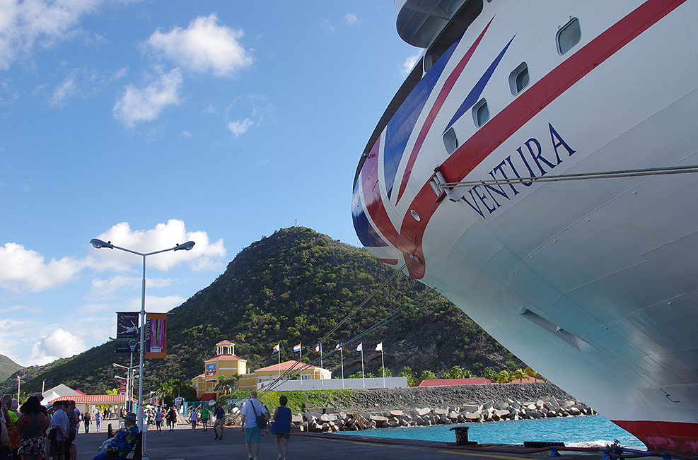 berthed in Antigua