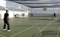 Loved the big tennis court. Almost regulation size.