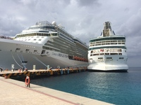 In port at Cozumel, Mexico