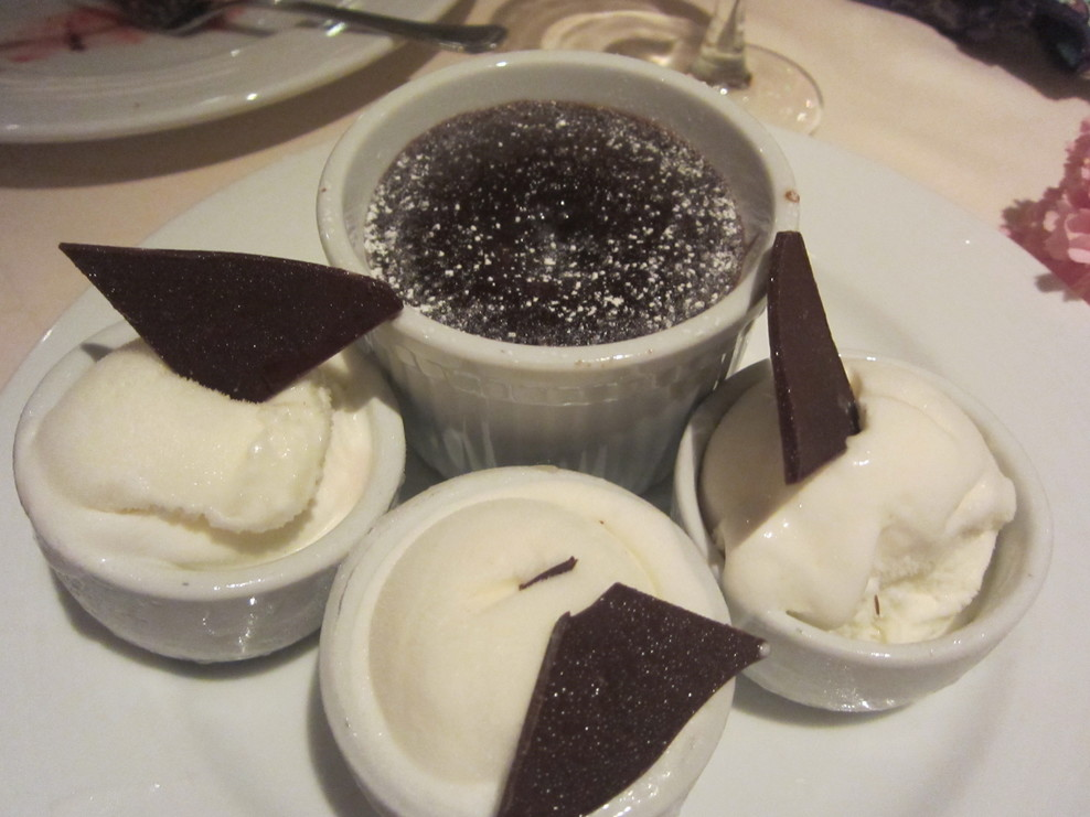 Famous dessert - Chocolate Lava cake and ice cream