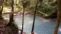 Further down river at the Blue Hole. Really nice place to visit & not crowded!