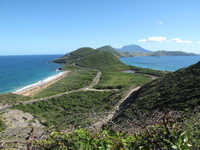 St. Kitts view.  Atlantic Ocean and the Carribean Sea both in the same phot