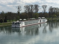 Viking Hlin docked on the Rhine in Strasbourg