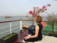 Morning meditation on upper deck