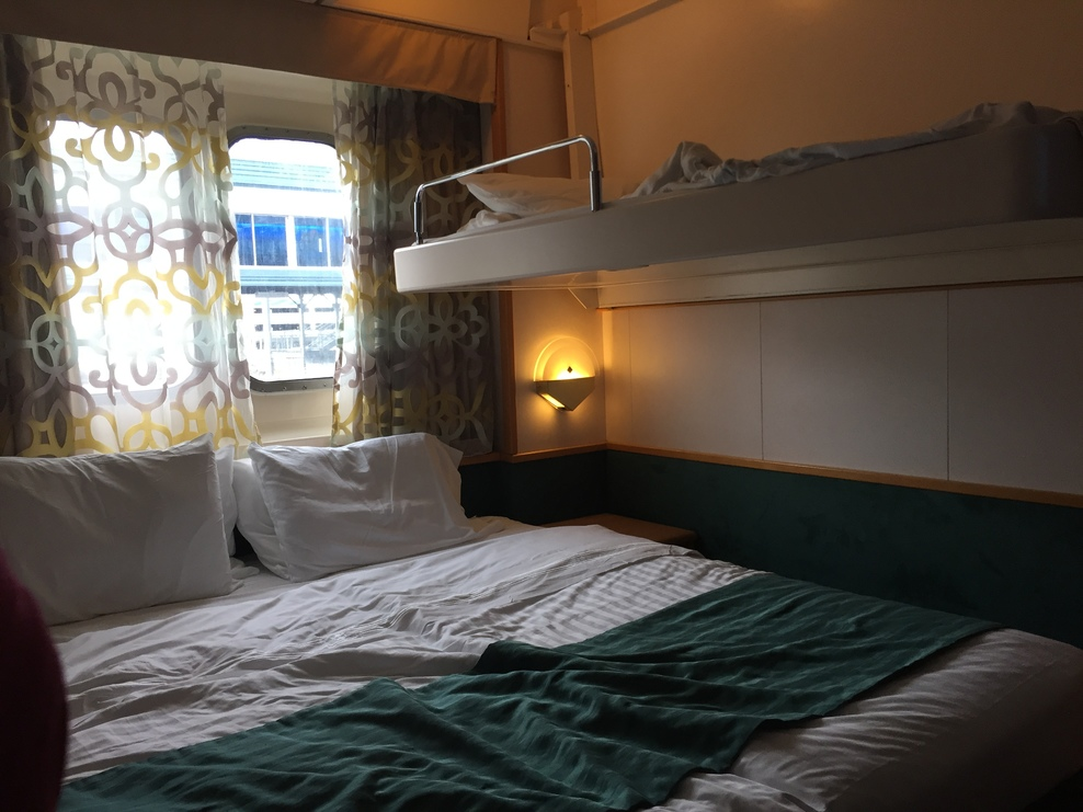 Heres the pullman bed. They separated the beds for us after we requested