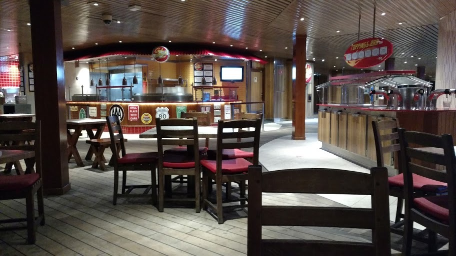 Lido deck, looking at Guys Burger Joint.