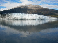 A melting glacier at Glacier Bay.