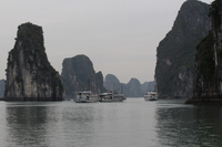 Halong Bay in the mist!