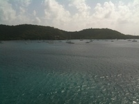 View from our stateroom docked in St. Thomas.