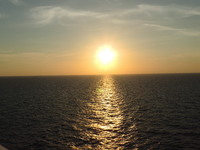 Sunset from The Sapphire Princess
