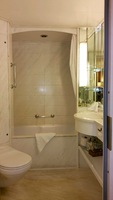 Our large bathroom with tub and shower