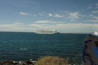 Our ship as viewed from Kangaroo Island