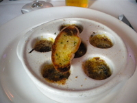 Food was alright! Entree of escargot as ordered by my son