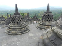 Borobudur Unesco Site, Semarang, Indonesia. Smaller than was expected
