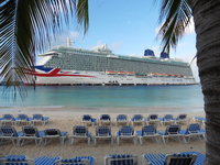 Britannia at berth in Grand Turk.