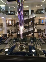 The shard centre piece in the atrium of Britannia