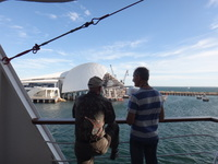 Leaving Fremantle Harbour