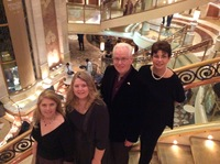 Family photo on center pavilion stairs. Beautiful ship!