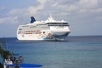 Norwegian Spirit moored off George Town, Grand Cayman