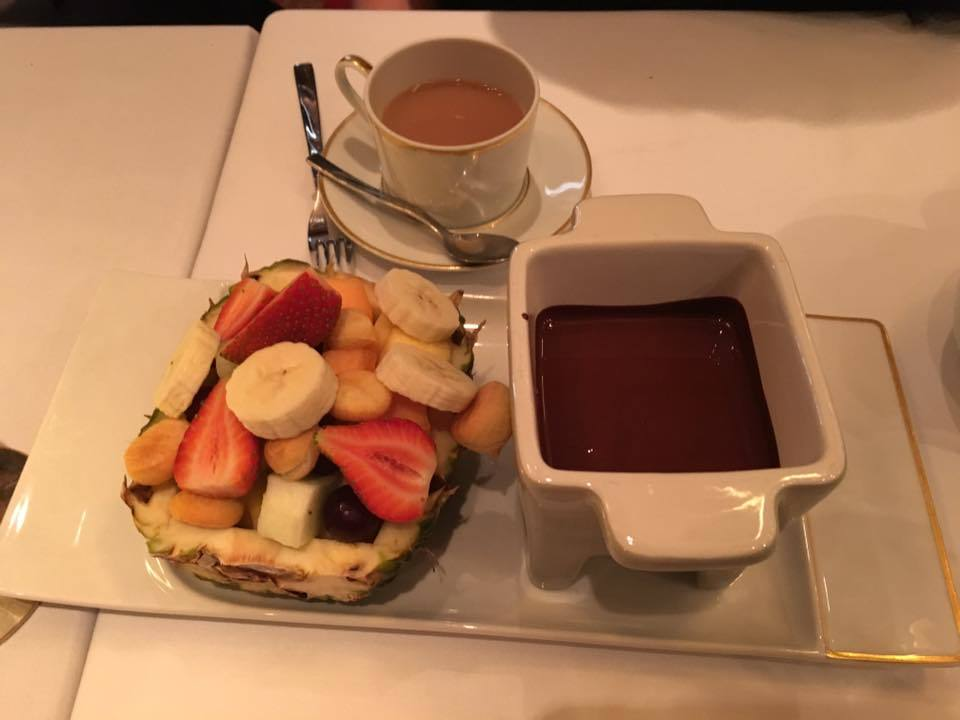 Fresh Fruit Fondue at Le Bistro