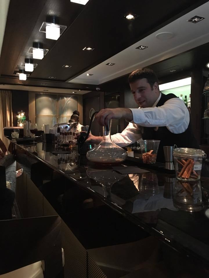 One of our great bartenders in the Haven's private lounge.