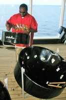 Junior teaching the Steel Pan