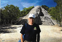 Mayan temple at Coba, Nohoch Mul highest pyramid in the Yucatan.